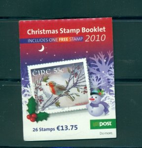 Ireland - Sc# 1906b. 2010 Christmas Booklet Used. First Day Cancels.