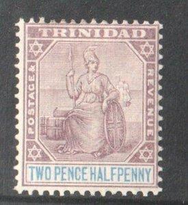1896 TRINIDAD - S.G:117  - 2 1/2d PENCE DULL PURPLE/BLUE MOUNTED MINT - Q. VIC