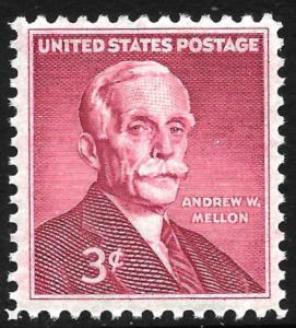 Sc 1072   3¢ Andrew W Mellon Single, MNH
