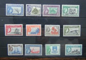 Gilbert & Ellice Islands 1956 - 62 to 10s MM SG64 - SG75