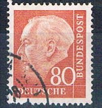 Germany 717 Used Thedore Heuss 1954 (G0410)