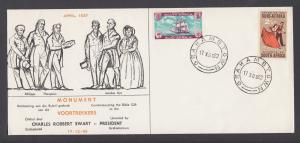 South Africa Sc 281, 282 on 1962 Voortrekkers Monument cacheted cover