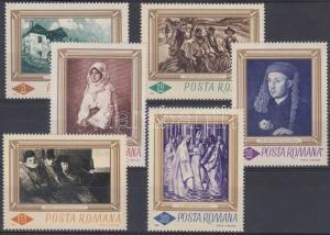 Romania stamp Paintings set MNH 1966 Mi 2519-2524 WS136262