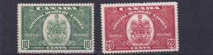 CANADA  1938 - 39      S G  S9 - S10  10C + 20C  VALUES     LMH   CAT £66