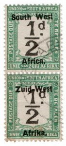 (I.B) South-West Africa Postal : Postage Due ½d