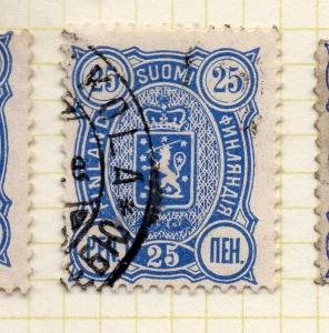 Finland 1889-94 Early Issue Fine Used 25p. 306242