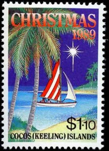 Cocos Islands #207-209, Complete Set(3), 1989, Never Hinged
