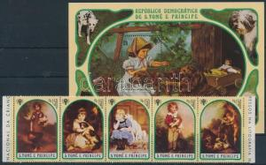 Sao Tomé e Príncipe stamp Year of Children; Children with dog paintings WS198483