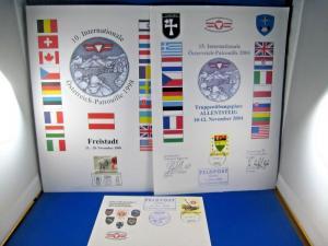 AUSTRIAN PATROL - 10th (1998) & 15th (2004) CELEBRATIONS FDC, MAGAZINE, & FD PAN