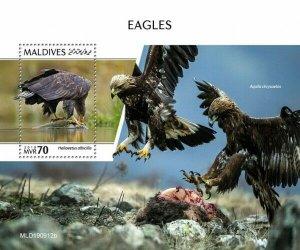 Stamps MALDIVES / 2020 - Eagles. BLOK.