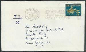 AUSTRALIA 1985 taxed cover to NZ - 33c Leafy Sea Dragon..............37795