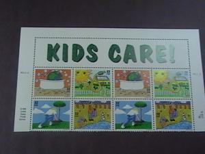 U.S.# 2951-2954(2954a)-MINT/NH--EARTH DAY/ KIDS CARE--PLATE # BLOCK OF 8---1995