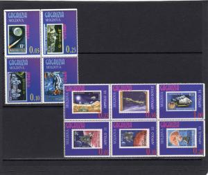 Gagauzia (Moldova) 1997 Apollo Space/Stamps on Stamps  Set (10) Perforated MNH