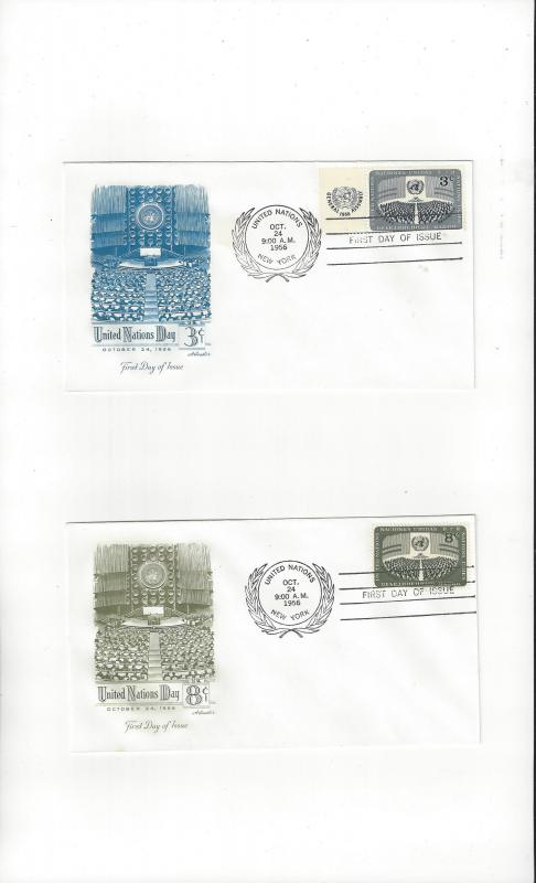UN New York FDC 45-6 United Nations Day Artmaster Cachet