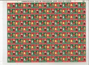 1954 CHRISTMAS SEALS, FULL SHEET