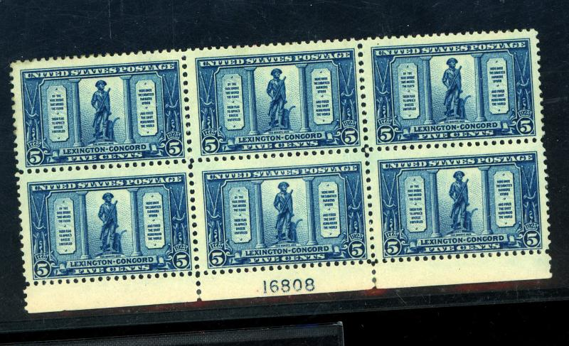 619 MINT Plate block F-VF OG NH Cat $275