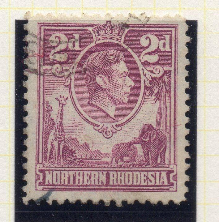 Northern Rhodesia 1950 Early GVI Issue Fine Used 2d. 107761