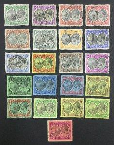 MOMEN: DOMINICA SG #71-91 1923-33 USED £650 LOT #62118