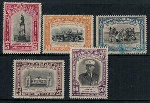 Panama #358-62*/u  CV $6.80