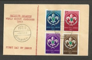 1963 Maldive Islands World Boy Scout Jamboree FDC