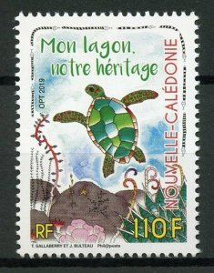 New Caledonia 2019 MNH Lagoon Heritage 1v Set Turtles Reptiles Stamps