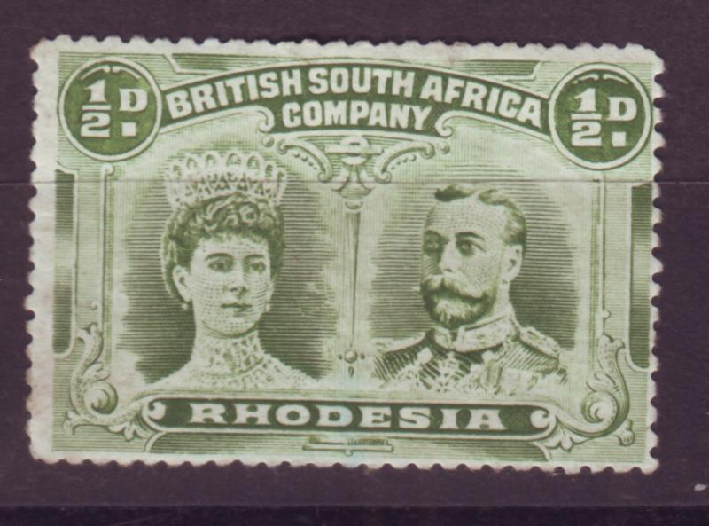 J17078 JLstamps 1910 rhodesia mng #101 king and queen