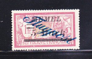 Memel C15 MH Overprint