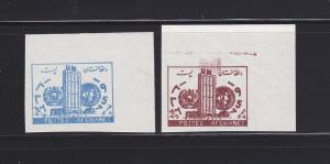 Afghanistan B15-B16 Imperf Set MNH United Nations Day (C)