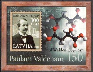 Latvia 2013 150th Anniversary of Paul Walden Chemist S/S MNH