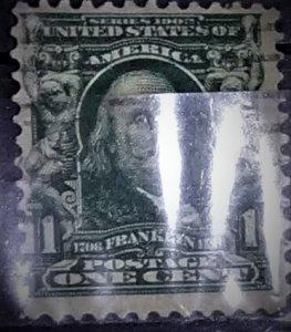 United States #300 1c Franklin