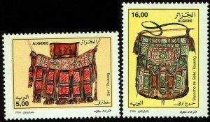 Algeria #1062-63  MNH - Touareg Leather Crafts (1996)