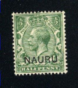 Nauru #1   Mint VF 1916-23 PD