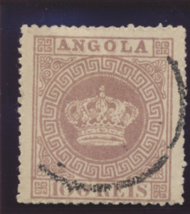 Angola Stamp Scott #7, Used - Free U.S. Shipping, Free Worldwide Shipping Ove...