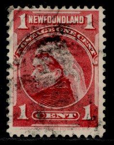CANADA - Newfoundland QV SG84, 1c carmine, USED.
