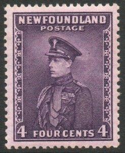 NEWFOUNDLAND-1932 4c Bright Violet Sg 212 MOUNTED MINT V46303