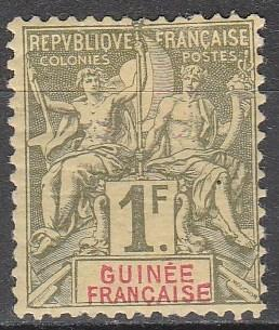 French Guinea #17  Unused  CV $50.00 (A12998)
