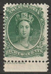 Nova Scotia 1860 Sc 11a MNH** with selvedge