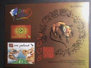 NEW ZEALAND STAMP-2008-SC#2171a YEAR OF THE LOVELY RAT MNH-S/S VERY FINE