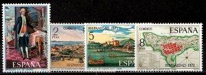 Spain 1972 SC. 1734-1737 MNH (1221)