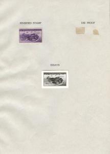 #925E B.E.P. PHOTO ESSAY PHILIPPINE ISLANDS 3¢ 1944 W/ FINISHED STAMP BT8130