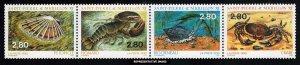 Saint Pierre & Miquelon Scott 616a-616d Mint never hinged.