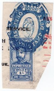 (I.B) Australia - Queensland Revenue : Impressed Duty 1/- (Rockhampton)