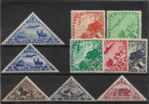 Tannu Tuva 1934, Full Set Including Size Variety of 2 Tug,Sc # C1-C9a, VF MLH*OG