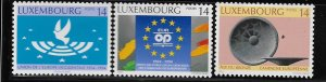 LUXEMBOURG, 915-917, HINGED, WESTERN EUROPEAN UNION