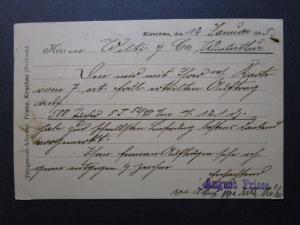 Germany 1905 Postcard to Switzerland w/ 5c and 10c Dues - Z7540