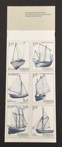 Sweden 1981 #1365a Booklet, Sailboats, MNH