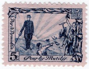 (I.B) Belgium Great War Cinderella : War Invalids 5c (Peace)