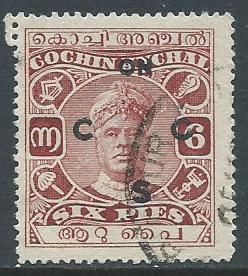 India-Cochin, Sc #O11, 6p Used
