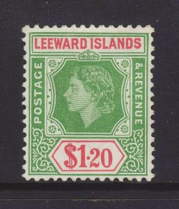 1954 Leeward Is $1.20 Unused SG138
