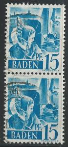 Germany #5N19 15pf Girl of Constance